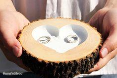 hunting wedding rings | Camo Colored Wedding / Rustic Wedding Ring Pillow Log Ring Dish ...