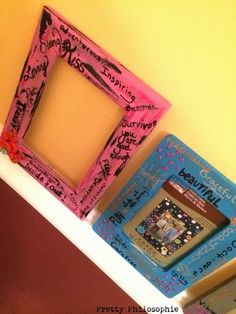 """Fun """"encouragement"""" DIY frames to do with friends..."""