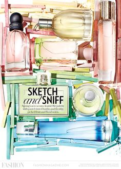 The best #fragrances for Spring 2013 in an art inspired editorial. See more at: http://www.fashionmagazine.com/blogs/beauty/