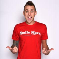 Smile More Kids T-Shirt Roman Atwood Gamer Youtube Top Youtuber Boys Girls Tee