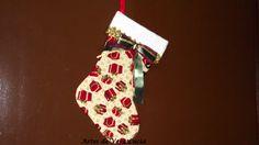 Bota Decorativa de Natal em cartonagem.