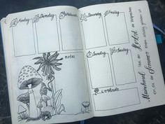 Monthly Bullet Journal Layout, Art Journal Pages, Journal Ideas, Bujo, Journal Organization, Love Doodles, Planner, Bullet Journal Inspiration, Hand Lettering