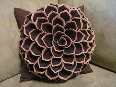 Decorative Pillow Pattern SOPHIA FLOWER Felt Flower Pattern with 2 Bonus Pillow Cover Patterns Tutorial PDF ePattern How To on Etsy, $5.41 CAD