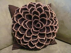 Decorative Pillow Pattern SOPHIA FLOWER Felt Flower Pattern with 2 Bonus Pillow Cover Patterns Tutorial PDF ePattern How To on Etsy, $5.41 CAD