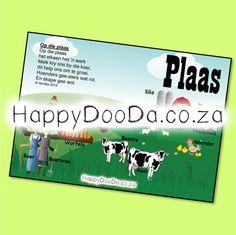 'n Tema muurkaart – Die Plaas. Hierdie produk is in Afrikaans vir leerders 4-13 jaar. Home Schooling, Afrikaans, Hdd, Homeschool, Words, Afrikaans Language, Homeschooling