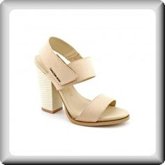 Calvin+Klein+Women'+Leather+Comfortable+Heel+Strappy+Support+Slingback+Sandals