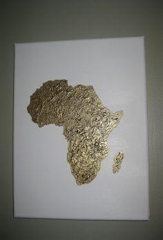 Acrylic painting of Africa by 10kiaatstreet on Etsy, $48.00