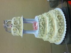 Cake I made for my BFF who is a Police Officer. Police wedding cake. Handcuffs. Handcuff cake.