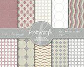 Retro Chic Papers Digital Scrapbook Papers set - PGPSPK500 #prettygrafik