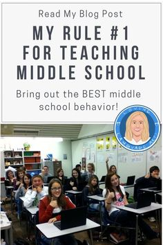 I learned from experience (sometimes the hard way) about how to bring out the best behavior in middle schoolers. When teaching adolescents, it's best to be prepared, knowing ahead of time how you'll react to situations. This blog post, My Rule #1 for Teaching Middle School, will help you do that. Based on years of experience instructing pre-teens, trying to be just the right mix of cool and strict as a teacher, I came to understand the most important strategy of all for teaching middle school.