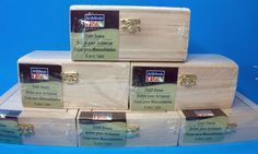 ArtMinds Unfinished Craft Boxes Hinged Lids Nesting Flip Lock Gold Tone New  #ArtMinds