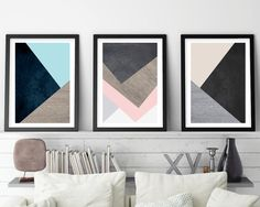 Set of 3 Prints, Print Set, Scandinavian Print, Scandinavian Art, Geometric Art, Geometric Print, Minimalist Poster, Nordic, Downloadable This set of 3 prints will infuse an ordered, symmetrical quality to your home or office, with their natural tones and geometric lines. Using the latest in trending interior design Pantone colours - Limpet Shell, Iced Coffee and Rose Quartz. This is an instant download, saving you delivery time, printing costs and shipping fees. All downloadable prints a...
