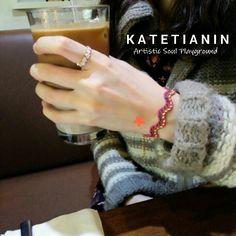 Flower Deep Pink Bracelet