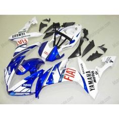 Yamaha YZF-R1 2004-2006 Injection ABS Fairing - FIAT - White/Blue | $669.00