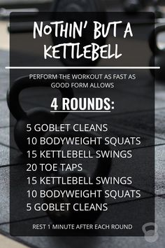 It's no secret: I'm a fan of kettlebell workouts—especially ones that require a single kettlebell, and elicit a rather taxing response in a short amount of time. Because this workout requires nothin' but a kettlebell, you can easily get this done at home https://www.kettlebellmaniac.com/kettlebell-exercises/