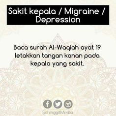 5 Tips Penawar Penyakit Dengan Surah-Surah Al Quran Prayer Verses, Quran Verses, Quran Quotes, Faith Quotes, Life Quotes, Hijrah Islam, Doa Islam, Reminder Quotes, Self Reminder
