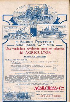 """Compartimos otra publicidad aparecida en la revista """"Nuestra Chacra"""" del año 1926. Esta publicación incluye temas del sector agropecuario y otros más de interés general"""