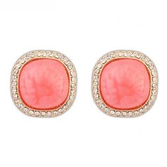 Buy Chic Gemstone Square Earrings for Girls with cheap price!