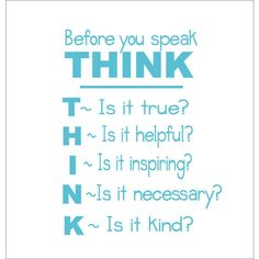Before You Speak Think Vinyl Wall Decal Classroom Playroom Wall Decal... ($20) ❤ liked on Polyvore featuring home, children's room, children's decor, black, home & living, home décor, wall decals & murals and wall décor