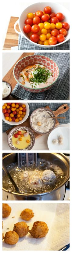 These Fried Cherry Tomatoes are so delicious - a great Summer appetizer! They burst in your mouth!
