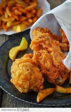 Kurczak jak z KFC. Kfc, Good Food, Yummy Food, Tasty, Snack Recipes, Cooking Recipes, Fast Food, Healthy Baking, Food Inspiration