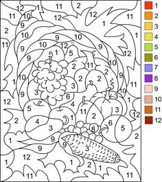 Nicole's Free Coloring Pages: COLOR BY NUMBER * Thanksgiving Coloring page