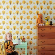 Ferm Living Dotty Nursery Wallpaper- Full Ferm Luving range online at Nubie   Nubie - Modern Baby Boutique