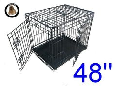 Ellie-Bo 48  XXL Dog Puppy Pet Cage Folding Carrier Crate In Black