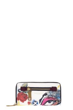 The Marc Jacobs Collage Printed Leather Continental Wallet