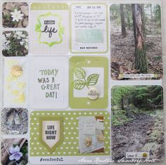Anne's paper fun:  PROJECT LIFE spring page idea and how to