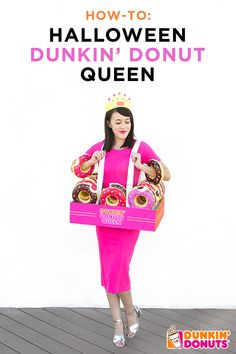 Declare yourselves Donut Royalty with these easy DIY King & Queen Halloween costumes!