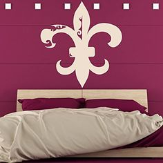 Fleur De Lis Floral Decorative Patterns Wall Stickers Home Decor Art Decals available in 5 Sizes and 25 colors XLarge Moss Green >>> Read more reviews of the product by visiting the link on the image. Note: It's an affiliate link to Amazon.