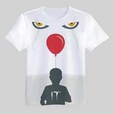 2017 New movie IT Pennywise T Shirt Clown Stephen King 1990 Horror Mov – geekbuyig Horror Movie T Shirts, Horror Movies, Tee Design, New Movies, Cool Shirts, New Fashion, Shirt Designs, Tees, Prints