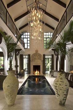 the entire house is centered around the indoor pool Please follow my fashion/Luxury blog www.ellies-delights.tumblr.com