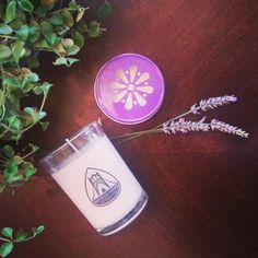 How cute is that purple lid on  our Oregon Lavender soy candle?! - Round tumbler $18 / Jelly Jar $12