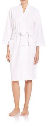 Saks Fifth Avenue COLLECTION Waffle-Knit Wrap Robe