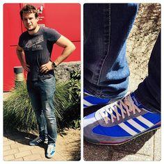 Notre coup de cœur de la semaine est porté par Thomas, vendeur au Luxus de Bierges, toujours à la mode même en travaillant avec ses baskets Adidas ! #luxus #manietluxus #shoes #adidas #favoritesshoes