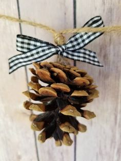 Buffalo Check Black and White Fall Decor Christmas Pine Cone Garland on Jute String Buffalo Plaid Wedding Garland Natural Farmhouse Christmas Pine Cones, Christmas Porch, Plaid Christmas, Rustic Christmas, White Christmas, Christmas Music, Homemade Christmas Decorations, Diy Christmas Ornaments, Christmas Ideas