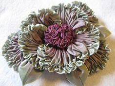 ruched flower - easier to make than it looks!