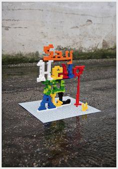 Lego typography