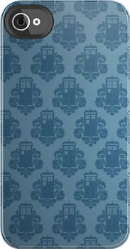 This is an iphone case, but I want it as a wallpaper  TARDIS Pattern by SOIL