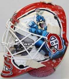 Sports Hoopla is a free sports forum with great features. Come chat with other college and pro sports fans online while watching the football, baseball, basketball or hockey game at home! Hockey Helmet, Hockey Goalie, Hockey Games, Hockey Mom, Ice Hockey, Hockey Stuff, Montreal Canadiens, Goalie Pads, La Kings Hockey