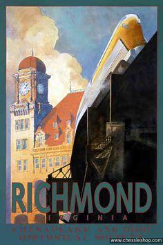 Chesapeake and Ohio poster- Richmond