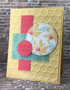 Avant Garden, Sale-a-Bration, hexagons dynamic textured embossing folder, Stampin