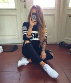 There are 3 tips to buy this sweater casual cool t,shirt sweetshirt jeans shirt shoes black swag america white black jeans black jeans black fashion