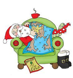 Aussie Santa Digi Stamp in Digital Images | Aussie Christmas ...
