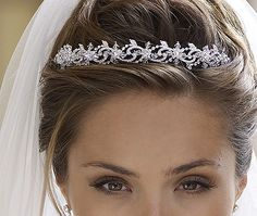 This is the perfect size tiara veil. I don't want one where it is huge or looks cheap.