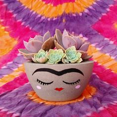 new Ideas succulent painting clay pots Succulent Planter Diy, Diy Planters, Planting Succulents, Garden Planters, Painted Plant Pots, Painted Flower Pots, Flower Pot Crafts, Clay Pot Crafts, Succulents Drawing