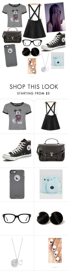 """""""Untitled #93"""" by luckylover0801 ❤ liked on Polyvore featuring moda, Topshop, Converse, Proenza Schouler, OtterBox e Disney"""