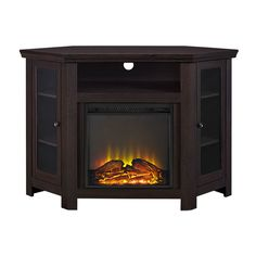 electric corner fireplace tv stand combo entertainment centers rh pinterest com